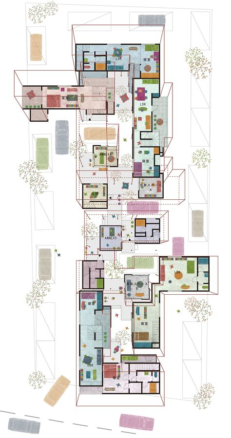 House Perspective With Floor Plan by Gallery Of Court Eureka 40