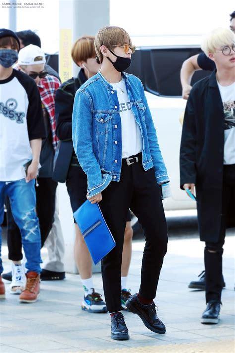 kim taehyung clothes bts v taehyung airport fashion kpop idol fashion
