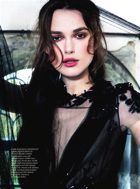 Vogue Uk Celebrates Keira Knightleys Coming Of Age In October 07 Issue by Keira Knightley By Unwerth For S Bazaar Uk
