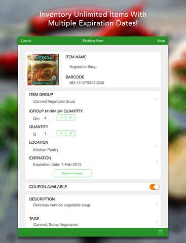 prep pantry inventory manager on the app store