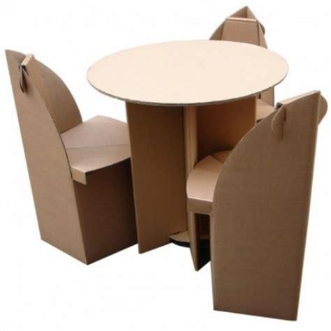 small high cardboard table quart de poil