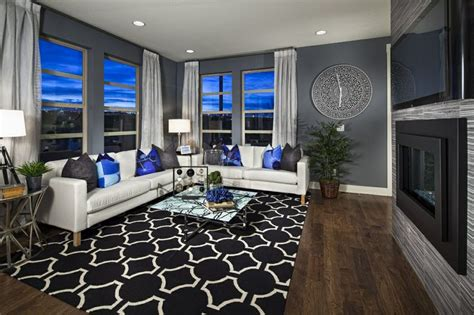 royal blue living room royal blue grey white and wood for the contemporary