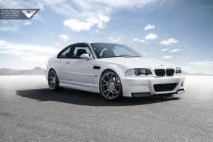 Bmw M3 White Alpine White Bmw E46 M3 With Vorsteiner Wheels