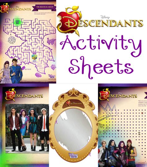 disney descendants party ideas food crafts and family disney descendants activity sheets food crafts and family