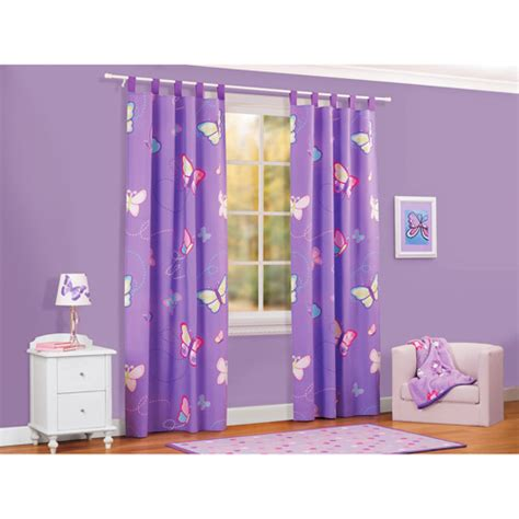 walmart curtains for kids mainstays butterfly drapes set of 2 decor walmart com