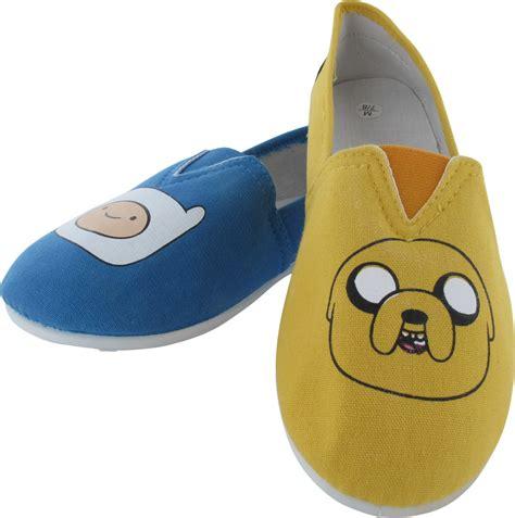 adventure time jake and finn slip on shoe slippers