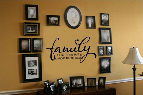 wall lettering decor family link to past bridge to future vinyl wall decal