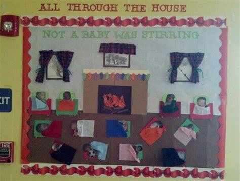infant room christmas bulletin board door bulletin board