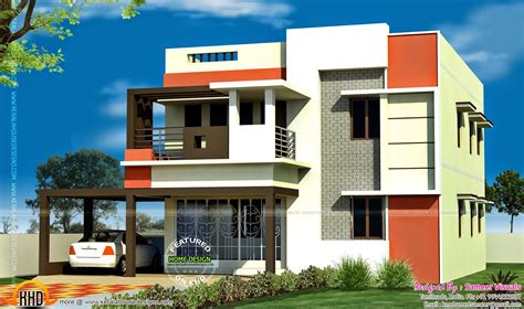 house elevation designs in tamilnadu 3 bedroom tamilnadu flat roof house kerala home design and floor plans
