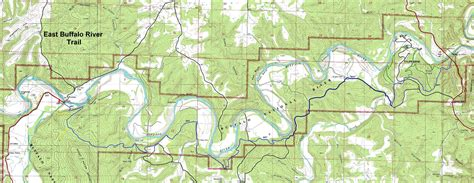buffalo river map buffalo river trail eastern section free detailed topo map