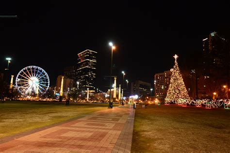 centennial olympic park christmas lights in atlanta