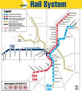 Dallas Rail Map by Dallas Metro Map