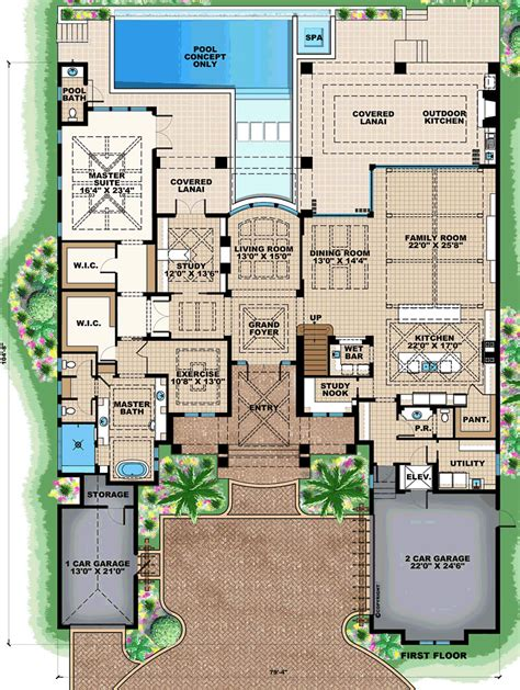 florida house floor plans florida mediterranean house plan 75954 house plans luxamcc