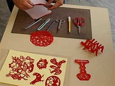 new year paper cutting tutorial paper cutting demonstration 2