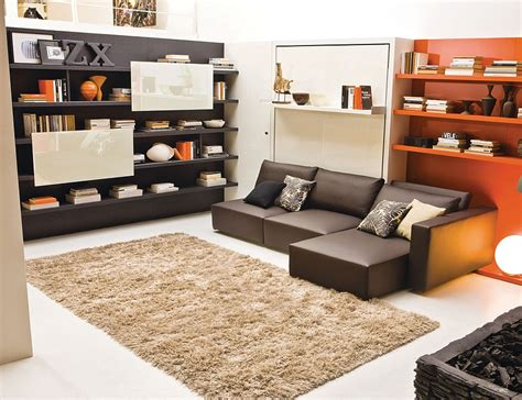 bed and couch in one transformable murphy bed over sofa systems that save up on