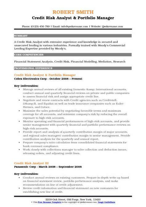 operational risk analyst sle resume credit risk resumes templateszigyco michael bowers