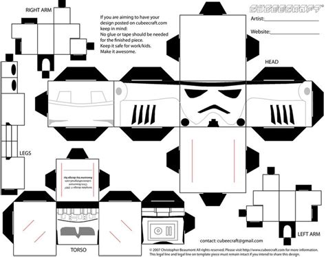 Papercraft Black And White - cubeecraft lego stormtrooper by adam1875 deviantart on