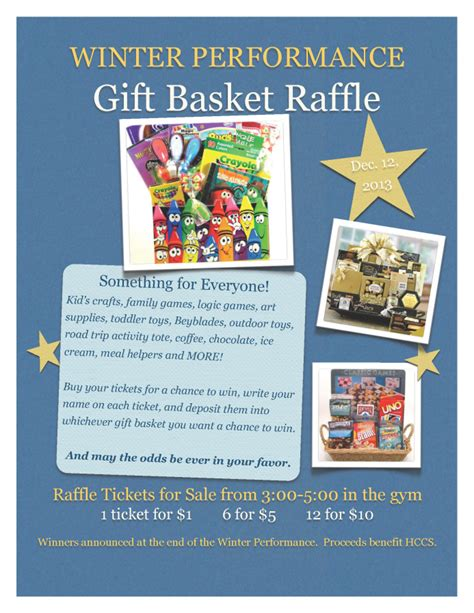 Winter Performance Gift Basket Raffle   Honey Creek PTO