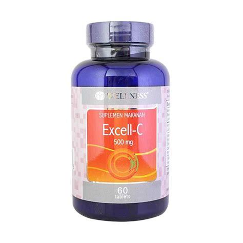 Suplemen Vitamin C jual wellness excell c 690050 vitamin c daya tahan tubuh suplemen 500 mg 60 tab harga