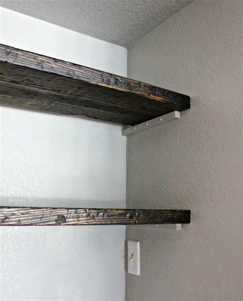 Hi Sugarplum Diy How To Fudge Reclaimed Floating Shelves Distressed Wood Floating Shelves