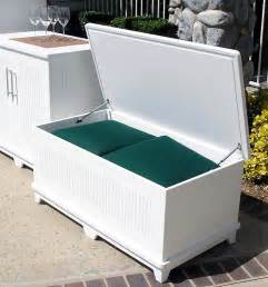 Free Wood Storage Building Plans by White Outdoor Storage Bench Www Galleryhip Com The