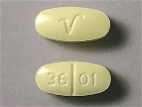 V 36 01 Pill - acetaminophen/hydrocodone 325 mg / 10 mg V 36 01 Yellow Pill Fake