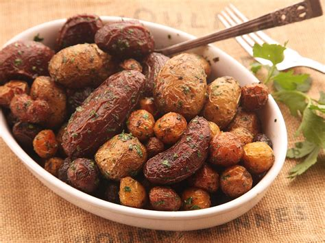 the secret to extra crispy herb roasted new potatoes more than a pinch of salt serious eats