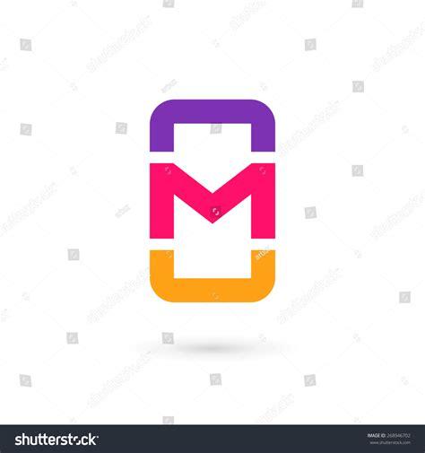 mobile phone app letter m logo stock vector 268946702