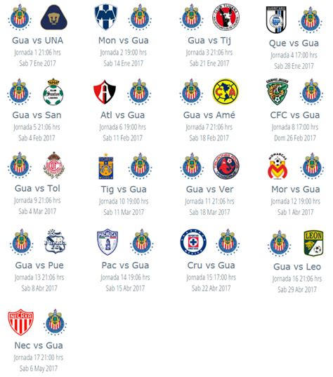 Calendario Liga Mx Chivas 2015 Search Results For Calendario De Futbol Apertura 2016