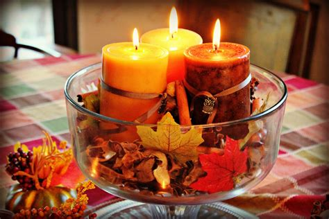 Dining Room Table Centerpieces With Candles 4 Diy Autumn Dining Room Table Centerpieces