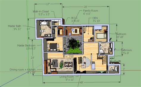 Sketchup House Layout | google sketchup bungalow model bungalow layout cloud atlas