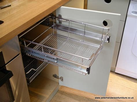 Wire Slide Out Shelves For Kitchen Cabinets | pull out shelves baskets drawers oak and french grey