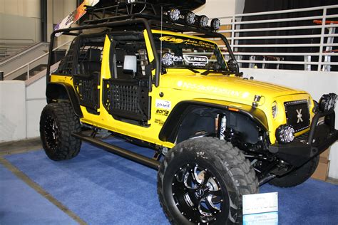 yellow jeep yellow jeep wrangler sema 2011 drivingscene