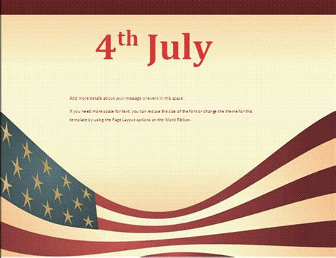 4th of july templates 4th july flyer template free business templates