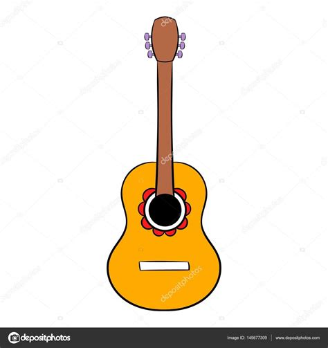 imagenes de guitarra sin fondo dibujos animados icono de guitarra ac 250 stica vector de