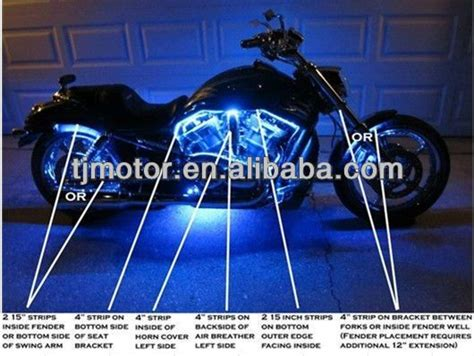 Motorcycle Led Lighting Kit Accent Led Strip Led Accent How To Install Led Lights On A Motorcycle