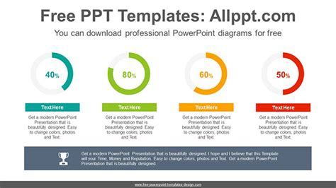 Simple Donut Charts Powerpoint Diagram Template Powerpoint Chart