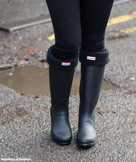 Wellies Black Matte Boots Raindrops Of Sapphire