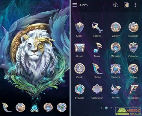 go launcher themes lion 10 best free android themes of 2016 appinformers com