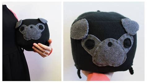 black pug stuffed animal black pug plush by cosmicosmos on deviantart