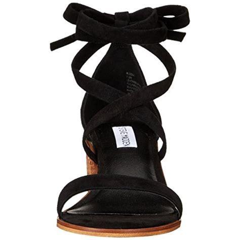 steve madden dress sandals steve madden 3356 womens rizzaa suede stacked heel dress