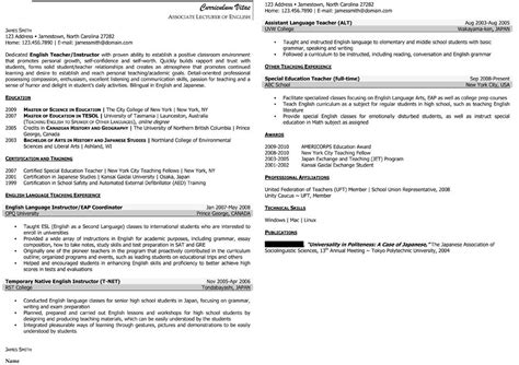 Sle Civilian And Federal Resumes Resume Valley Resume Template For Professor