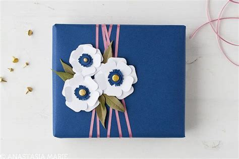 Paper Flowers Paket Menujuhalal1 1 white anemone 3d layered paper flower gift by