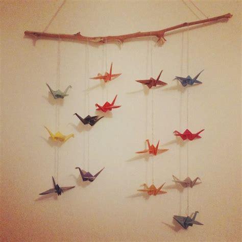 Origami Bird Mobile - origami crane bird mobile