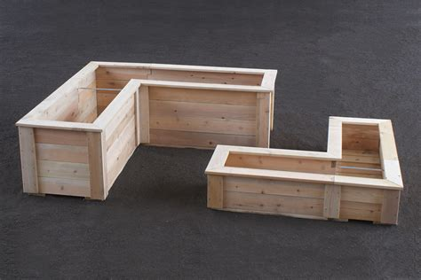 Corner Planter Box Plans by L Shaped Planter Boxes Naturalyards