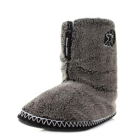 bedroom boots mens bedroom athletics crowe washed black fleece snow tip