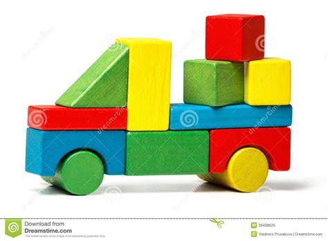 toy truck multicolor car wooden blocks transportation