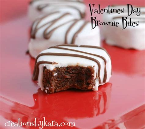 valentines day brownie shaped brownie bites for valentines day