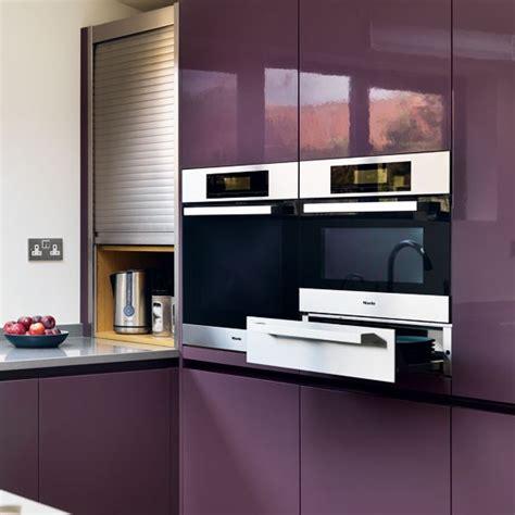built in appliances tour a dusky plum open plan kitchen