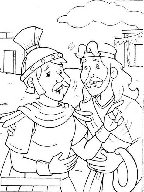 Luke 7 Coloring Page by The Faith Of A Centurion Matthew 8 Luke 7 Coloring